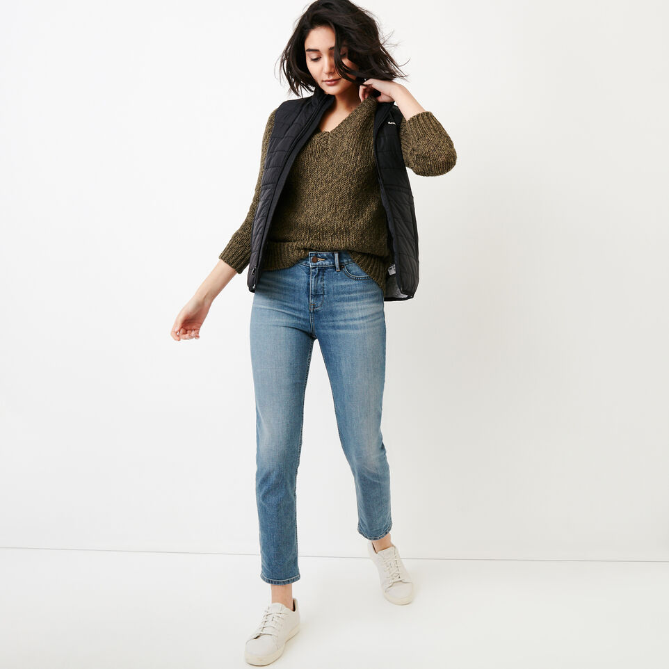 Roots-Women Our Favourite New Arrivals-Laurel V Neck Sweater-Fatigue-B