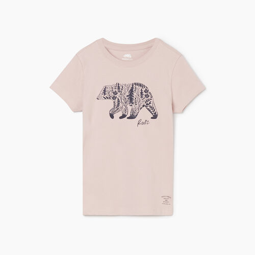 Roots-Kids New Arrivals-Girls Woodland Animal T-shirt-Burnished Lilac-A