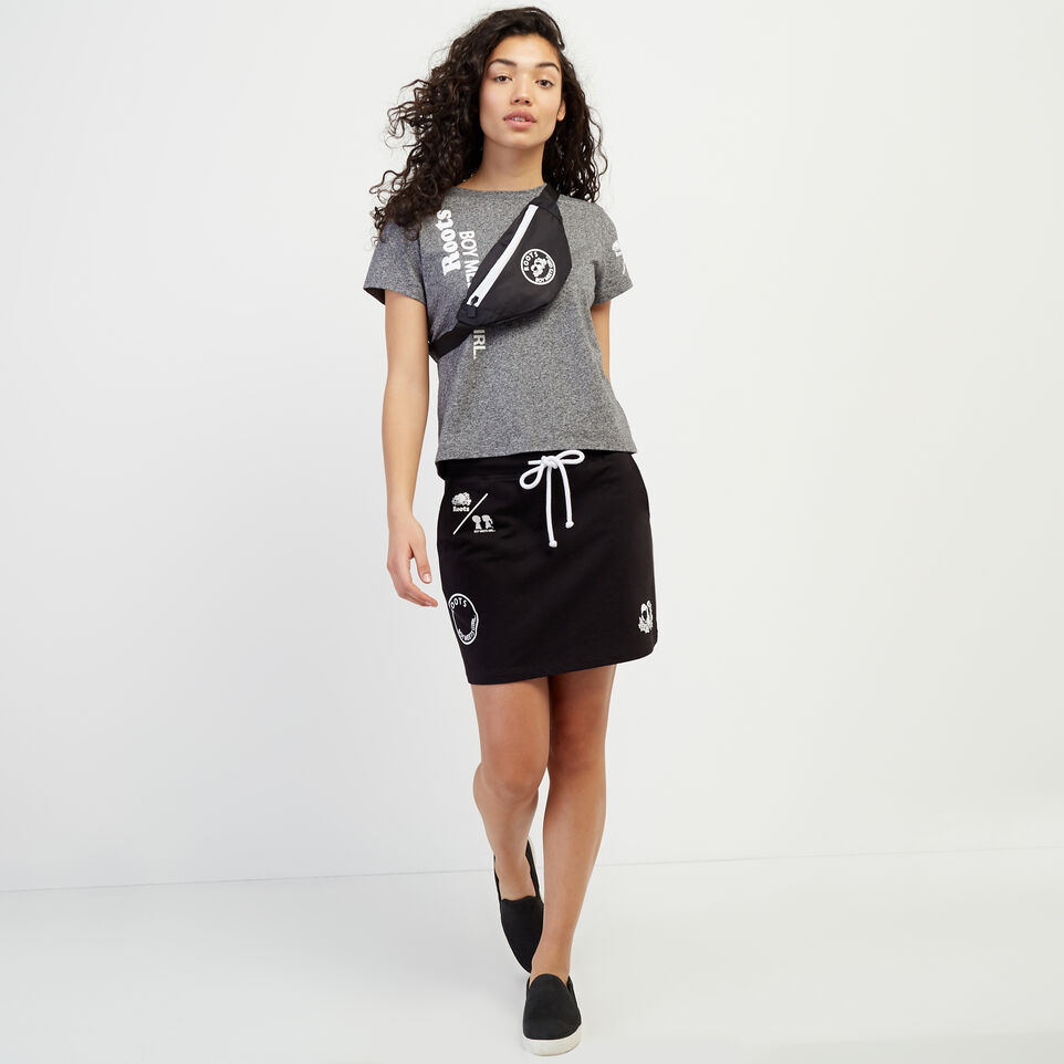 Roots-New For April Roots X Boy Meets Girl-Roots x Boy Meets Girl - Community Skirt-Black-B