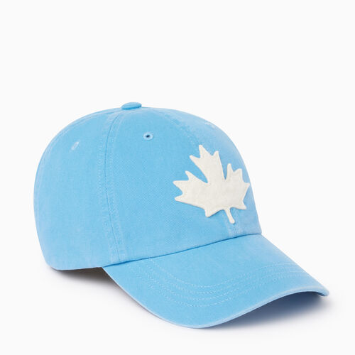 Roots-Men Accessories-Canada Leaf Baseball Cap-Bonita Blue-A