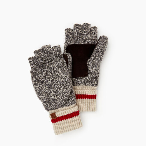Roots-New For October The Roots Cabin Collection™-Mens Roots Cabin Flip Mitt-Grey Oat Mix-A