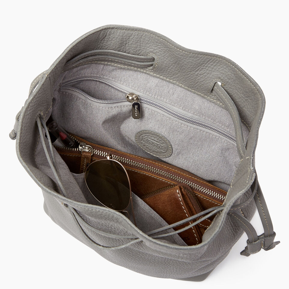 Roots-Leather  Handcrafted By Us Categories-Sherbrooke Backpack-Silverstone-D