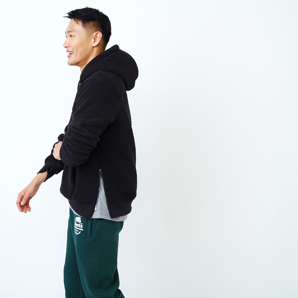 Roots-Men New Arrivals-Roots Sherpa Hoody-Black-C