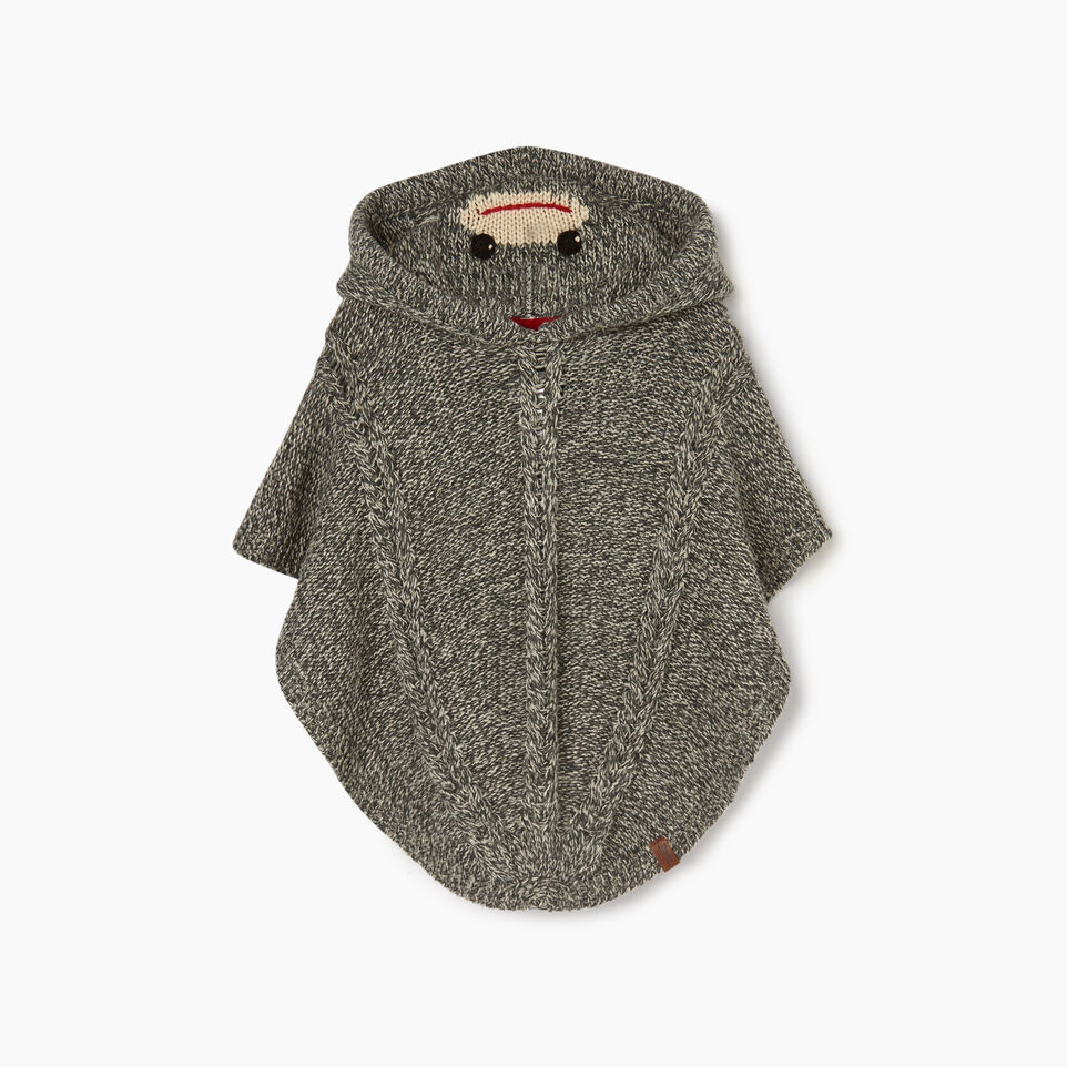 Roots-Sale Kids-Toddler Critter Poncho-Grey Oat Mix-A