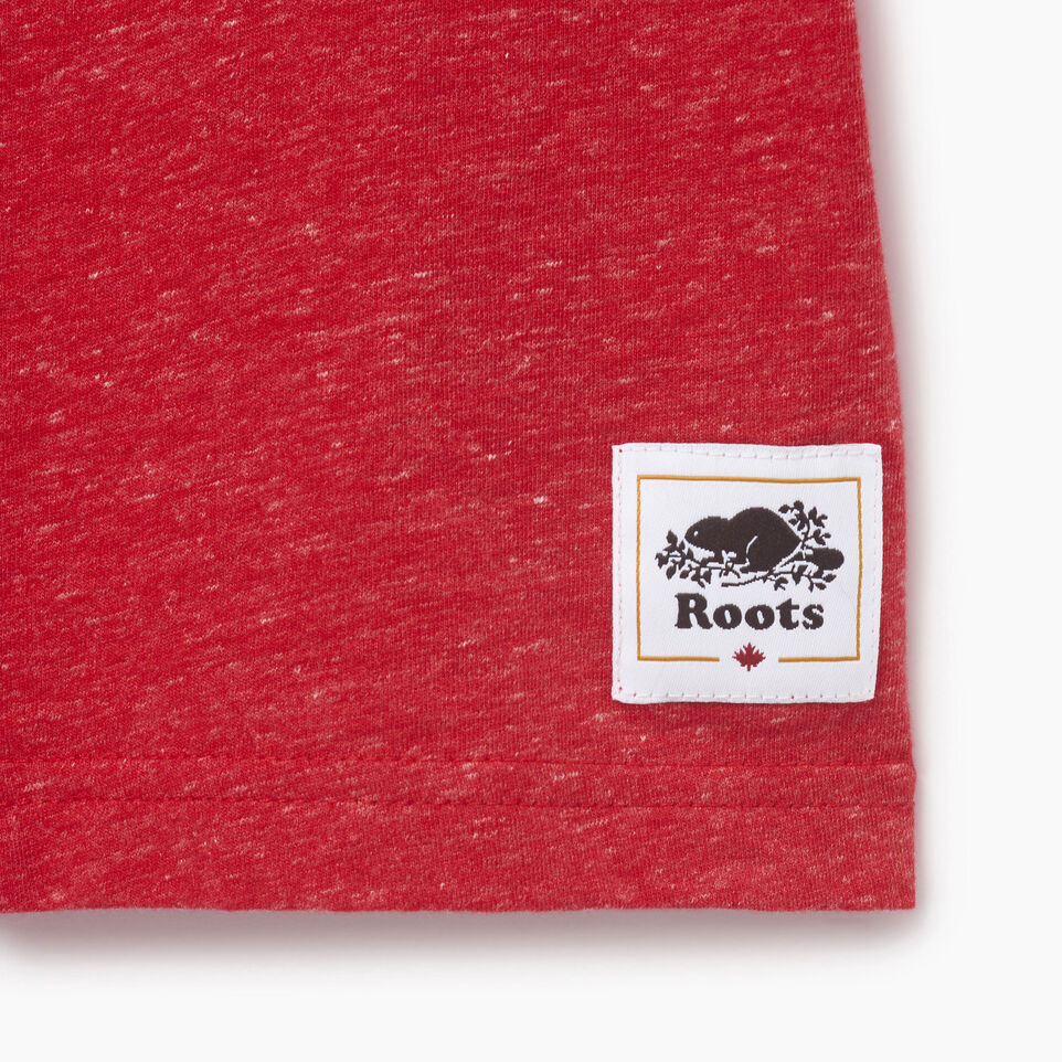 Roots-Kids New Arrivals-Boys Bedford T-shirt-Sage Red Mix-C