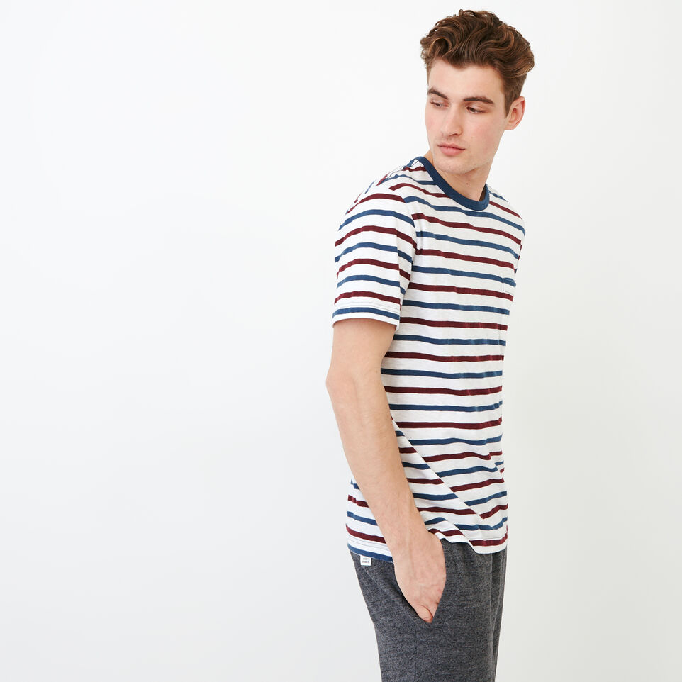 Roots-undefined-Striped Pocket T-shirt-undefined-C