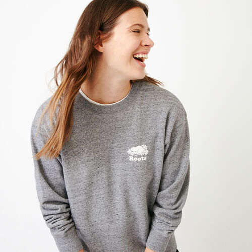 Roots-Women Our Favourite New Arrivals-Pepper Boyfriend Crew Sweatshirt-Salt & Pepper-A