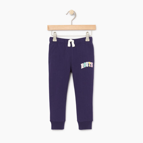 Roots-Kids Toddler Girls-Toddler Roots Varsity Sweatpant-Eclipse-A