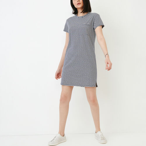 Roots-Women Dresses-Madeira Pocket Dress-Eclipse-A