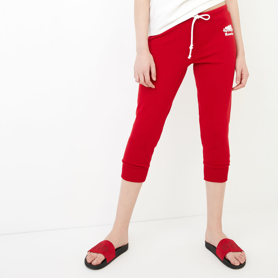 Roots-Women Our Favourite New Arrivals-Tyne Capri-Sage Red-A