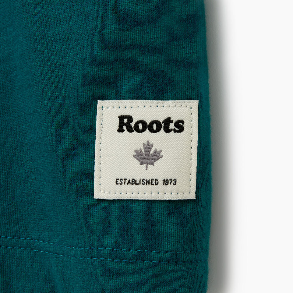 Roots-Women Clothing-Womens Borden T-shirt-Teal Green-C