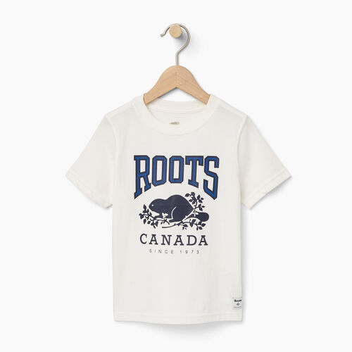 Roots-Sale Kids-Toddler Roots Classic T-shirt-Cloudy White-A