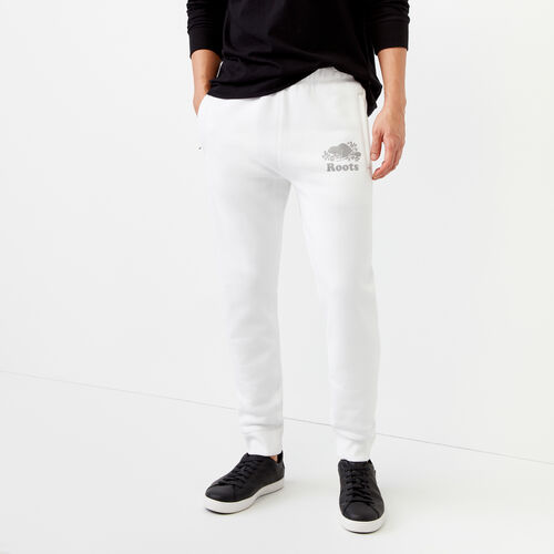 Roots-Men Our Favourite New Arrivals-Cooper Reflect Sweatpant-White-A