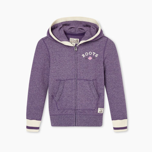 Roots-Kids Girls-Girls Cabin Cozy Full Zip Hoody-Loganberry Pepper-A