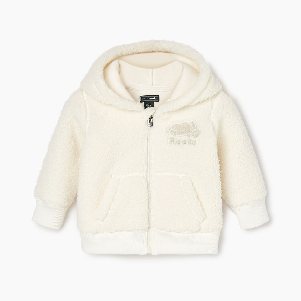 Roots-undefined-Baby Sherpa Fleece Full Zip Hoody-undefined-A