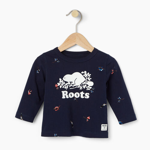 Roots-Kids Our Favourite New Arrivals-Baby Hockey AOP T-shirt-Cascade Blue-A