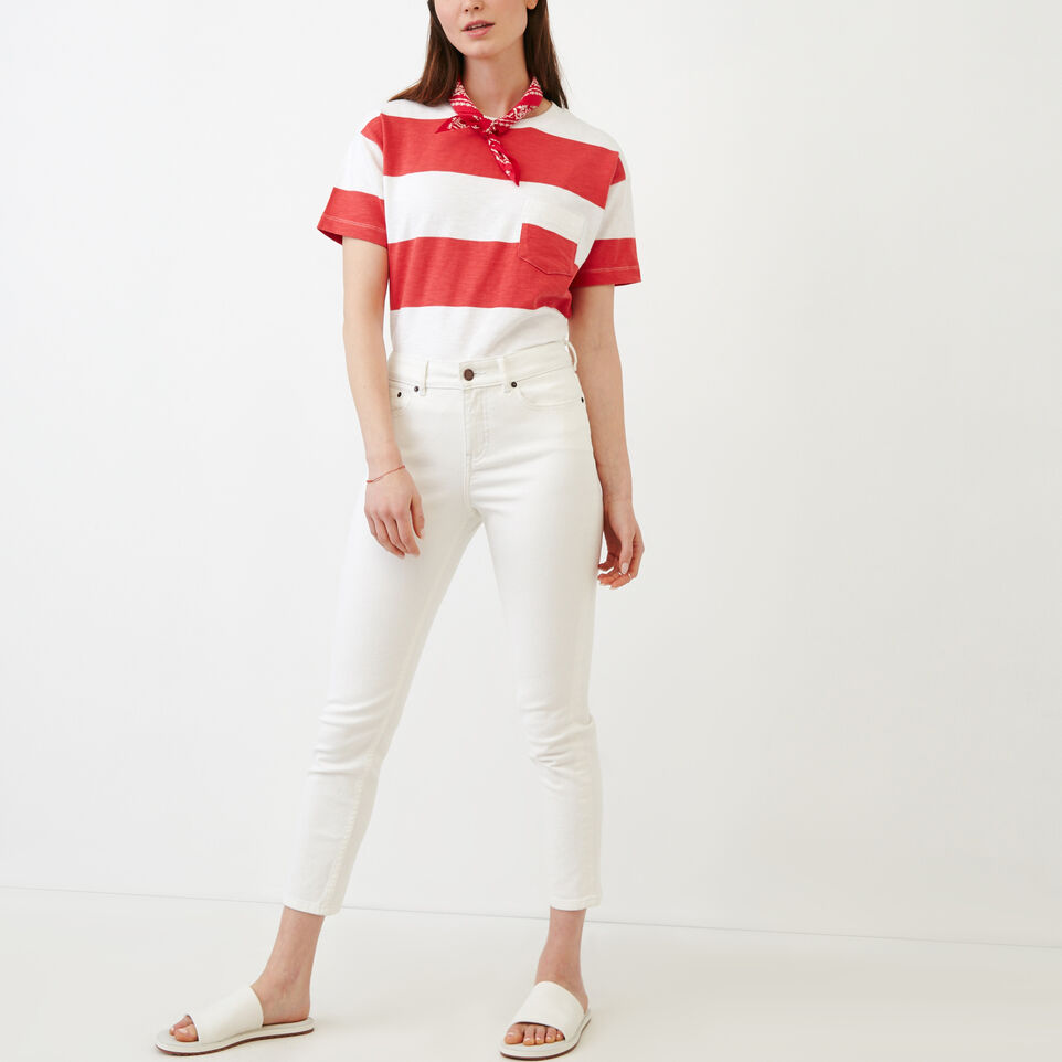 Roots-Women Our Favourite New Arrivals-Cropped Stretch Riley Jean-White-B