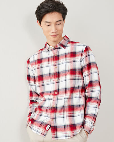 Roots-Sale Tops-Wellington Plaid Shirt-Sage Red-A