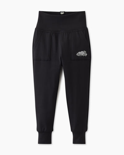 Roots-Sweats Toddler Girls-Toddler Lola Slim Jogger-Black-A