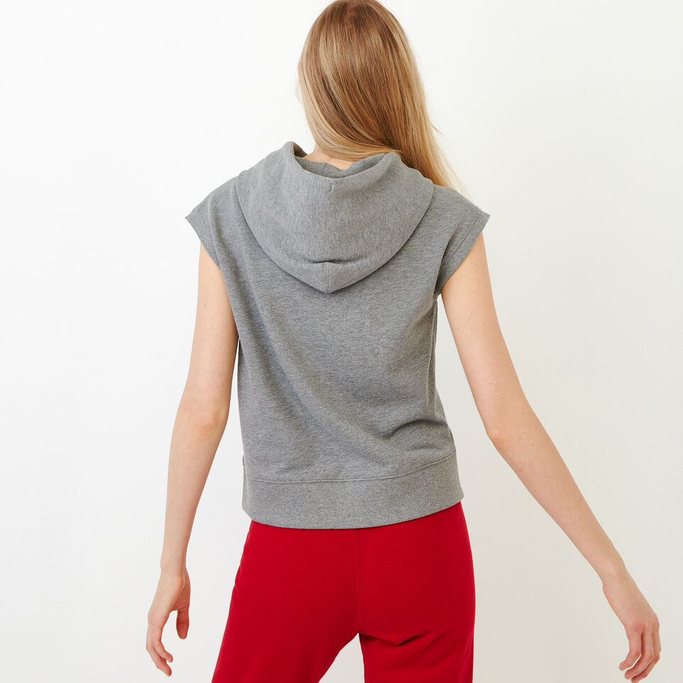 Roots-Women Our Favourite New Arrivals-Tyne Sleeveless Hoody-Medium Grey Mix-D