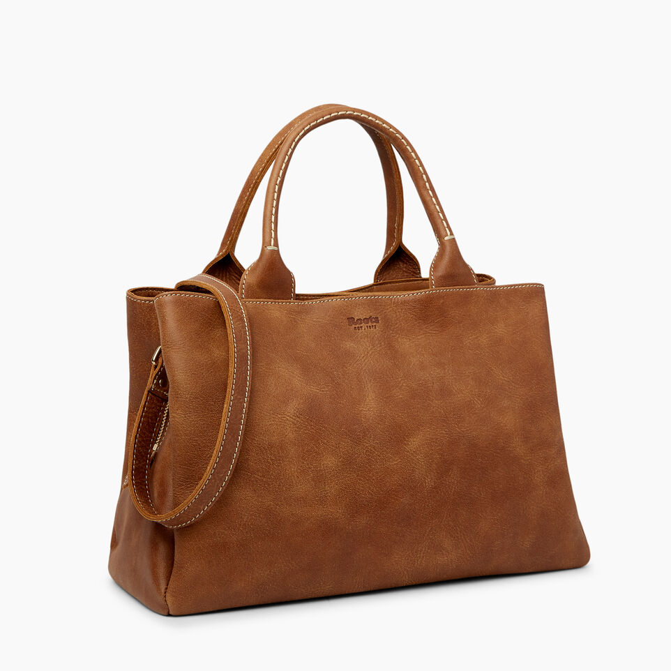 Roots-Leather  Handcrafted By Us Handbags-Mont Royal Bag-Natural-A