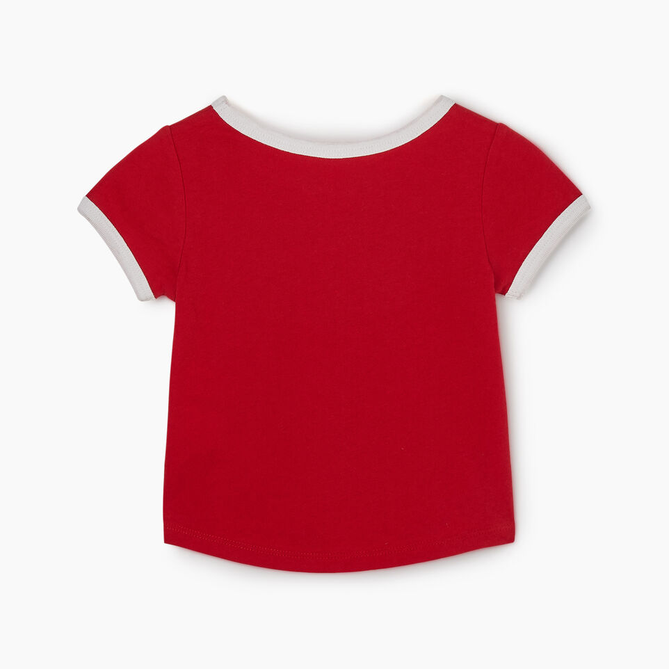 Roots-Kids New Arrivals-Baby Canadian Girl T-shirt-Sage Red-B