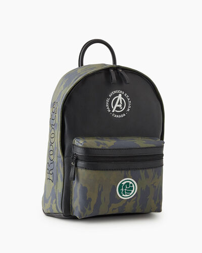Roots-New For This Month Shop By Apparel-Avengers Hulk Leather Backpack-Green Camo-A