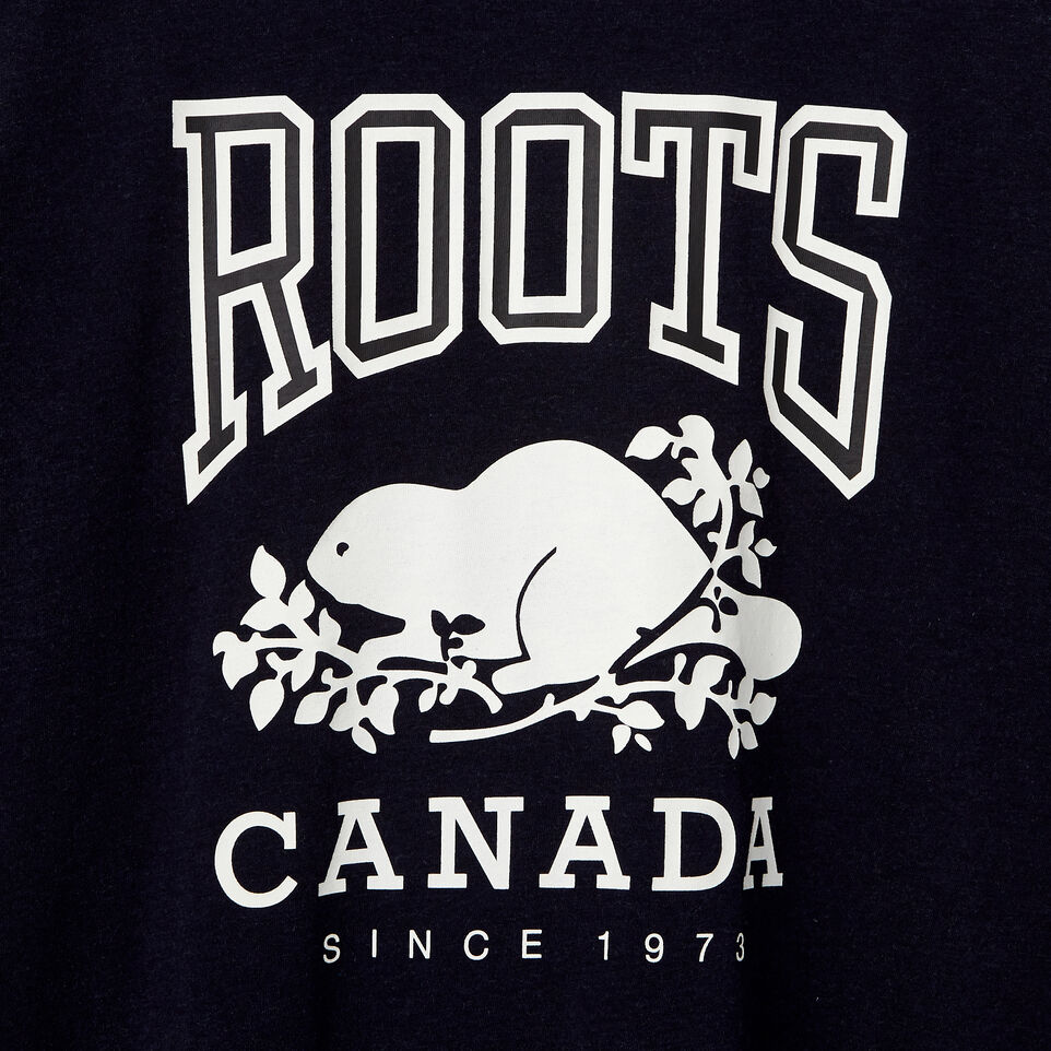 Roots-New For May Men-Mens Classic T-shirt-Navy Blazer Mix-D
