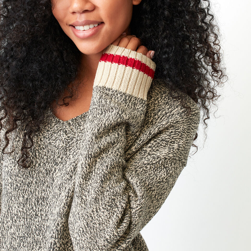 Roots-undefined-Roots Cotton Cabin V Neck Sweater-undefined-D