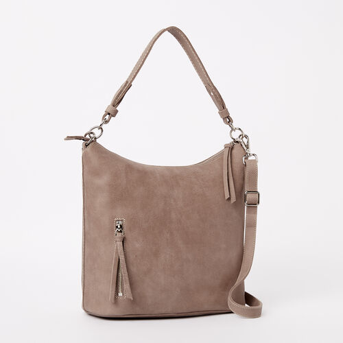 Roots-Leather  Handcrafted By Us Handbags-Ella Bag Tribe-Fawn-A