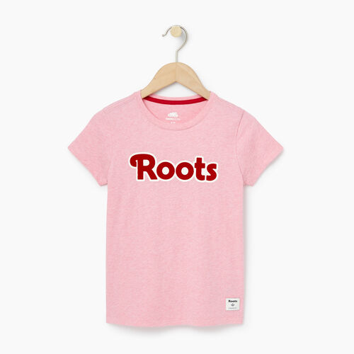 Roots-Winter Sale Kids-Girls Roots T-shirt-Sea Pink Mix-A