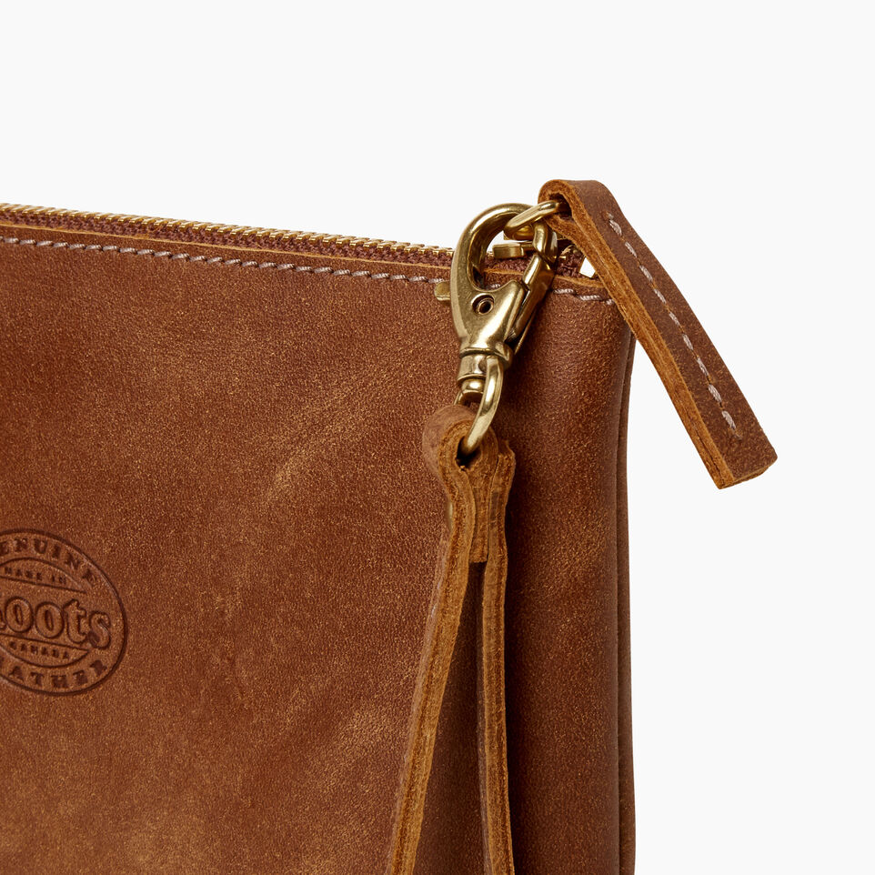 Roots-Leather Categories-Junction Wristlet-Natural-D