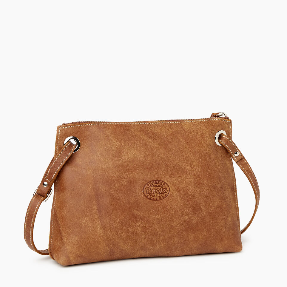 Roots-Leather Handbags-Edie Bag Tribe-Natural-C