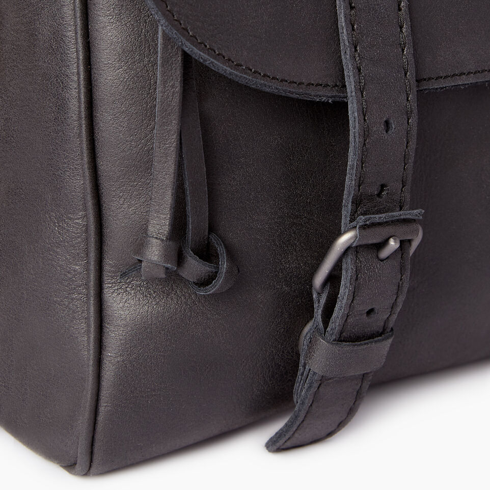 Roots-Leather Tribe Leather-Modern Satchel Tribe-Jet Black-E
