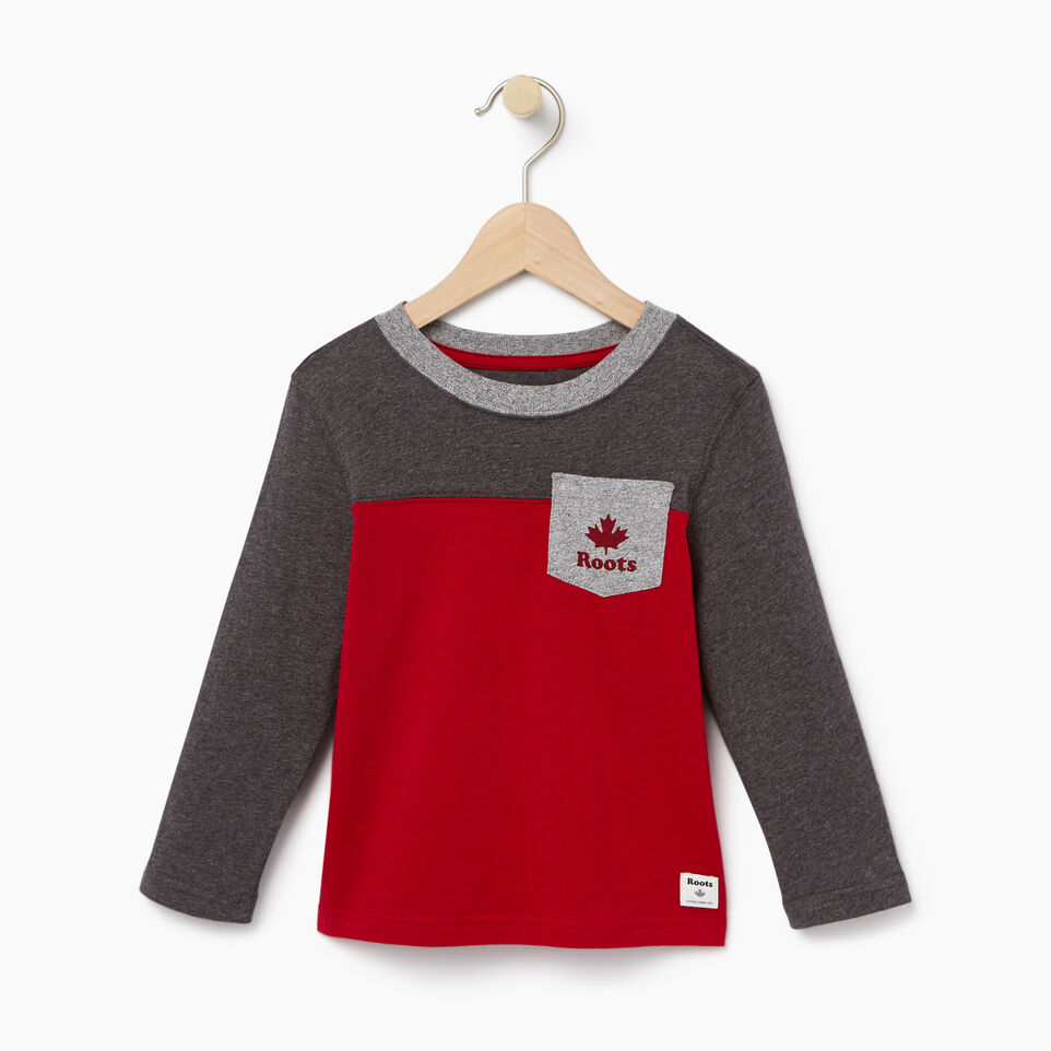 Roots-undefined-Toddler Colourblock Pocket T-Shirt-undefined-A
