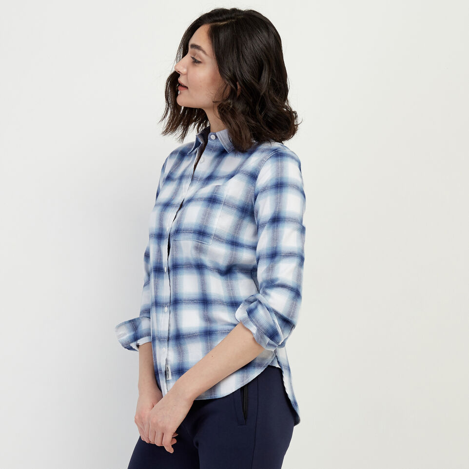 Roots-New For February Journey Collection-Journey Flannel Shirt-Celestial Blue-C