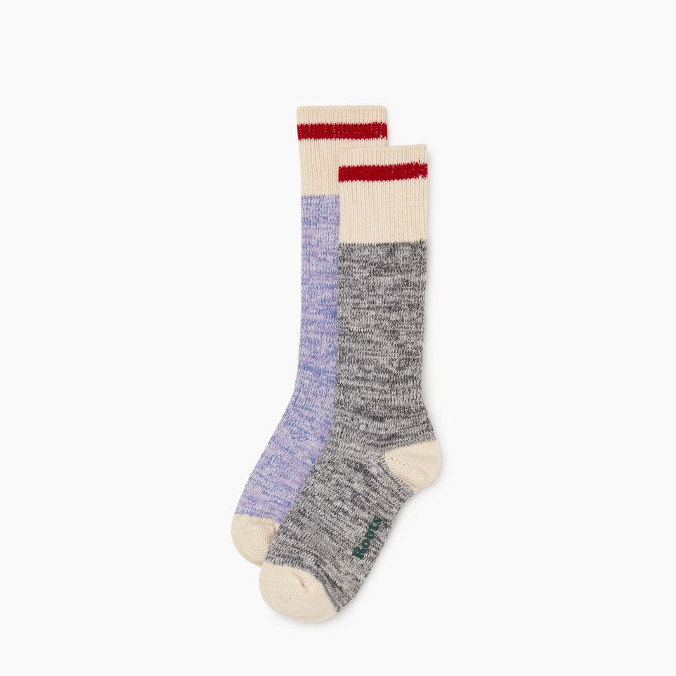 Roots-undefined-Womens Cotton Cabin Sock 2 Pack-undefined-B