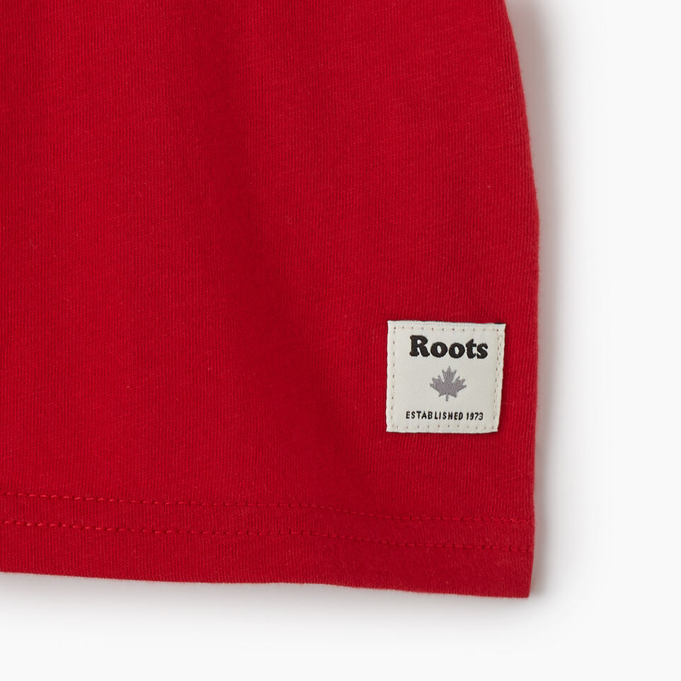 Roots-Kids New Arrivals-Baby Canadian Boy Ringer T-shirt-Sage Red-D