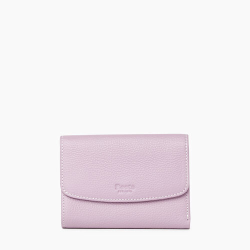 Roots-Leather New Arrivals-Liberty Trifold Wallet Cervino-Mauve-A