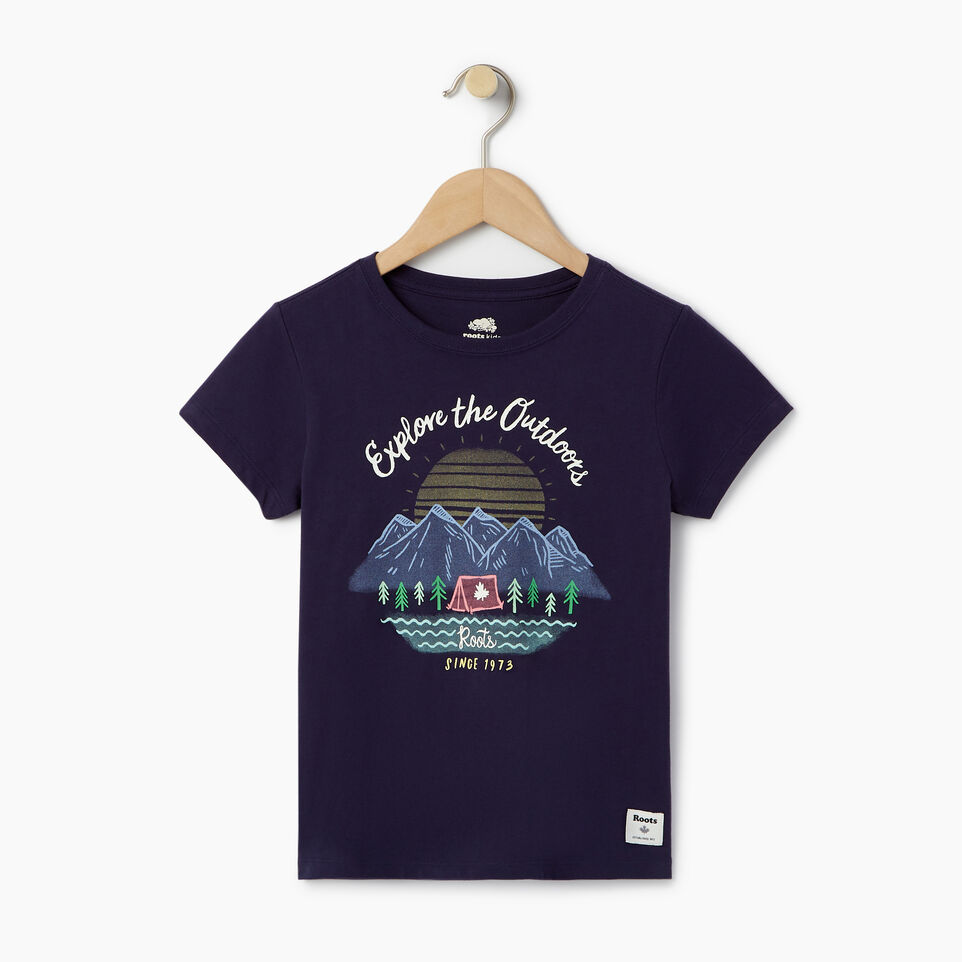 Roots-Kids Our Favourite New Arrivals-Girls Glow-in-the-dark T-shirt-Eclipse-A