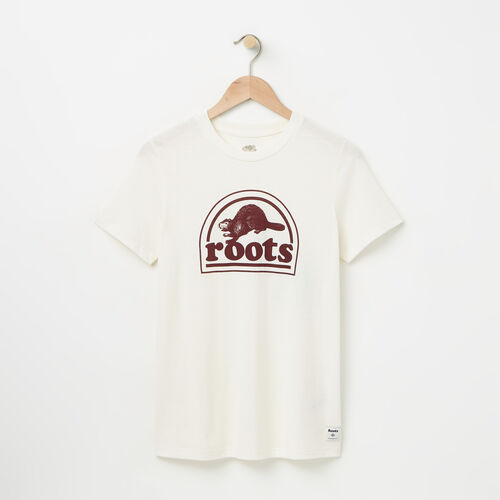 Roots-Sale Women-Womens Roots Vintage T-shirt-Pristine White-A