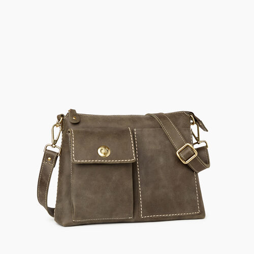 Roots-Leather Crossbody-The Villager Tribe-Pine-A