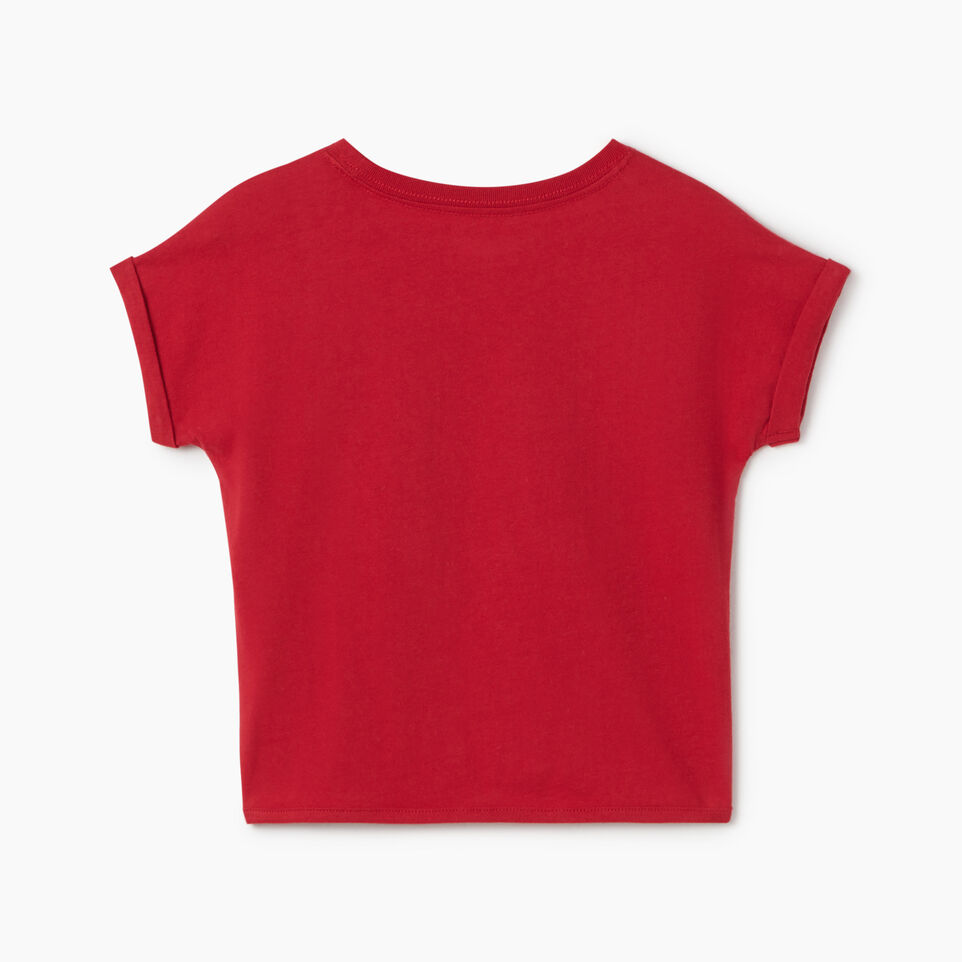 Roots-Kids Canada Collection-Toddler Canada Tie T-shirt-Sage Red-B