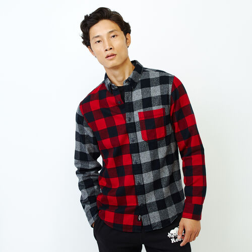 Roots-Men Our Favourite New Arrivals-Park Mix And Match Shirt-Cabin Red-A