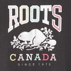 Roots-New For June Kids-Girls Swing T-shirt-Coal Grey-D