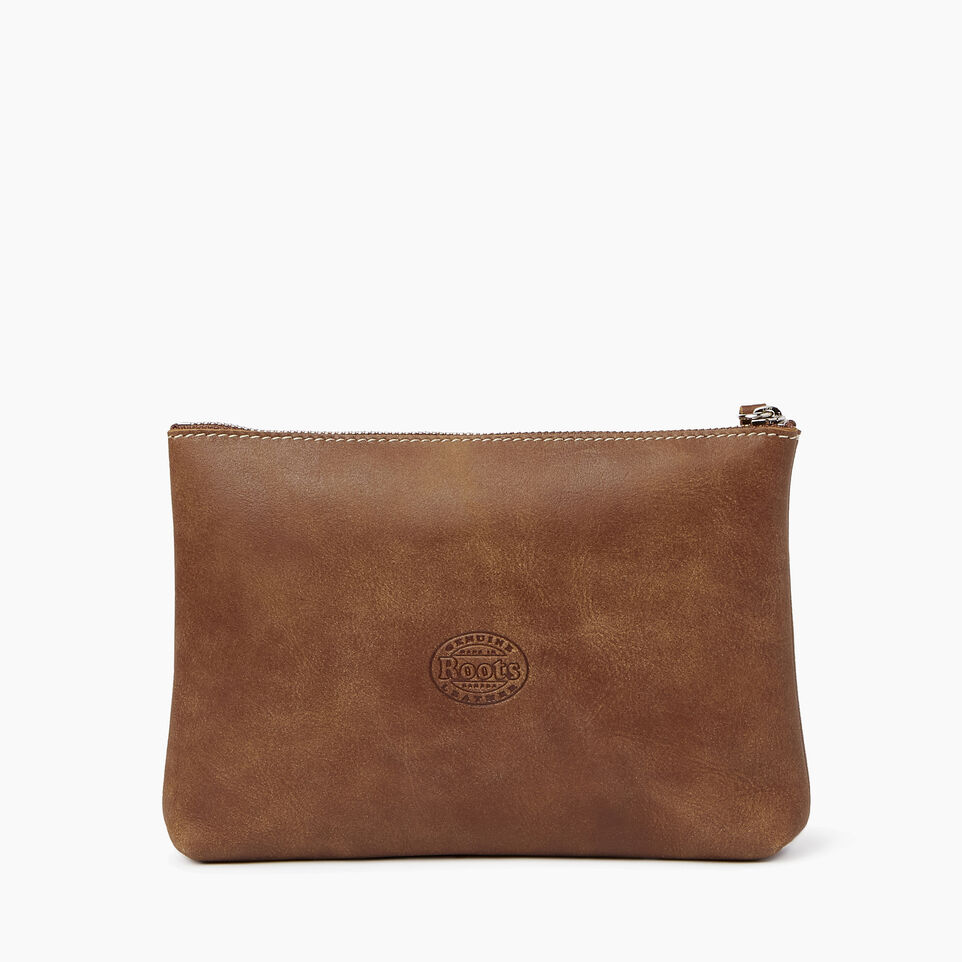 Roots-Leather  Handcrafted By Us Collections-Carrier Pouch-Natural-B