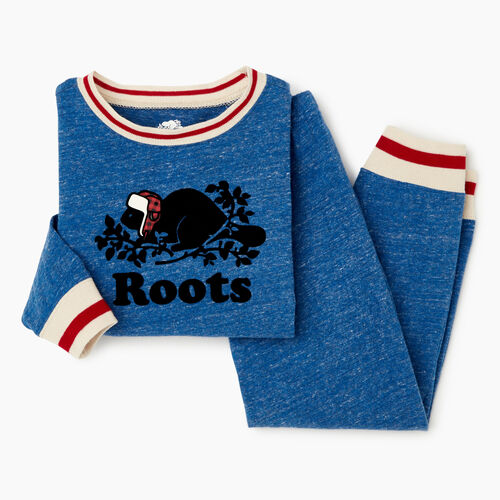 Roots-Kids Toddler Boys-Toddler Buddy Pj Set-Active Blue Pepper-A