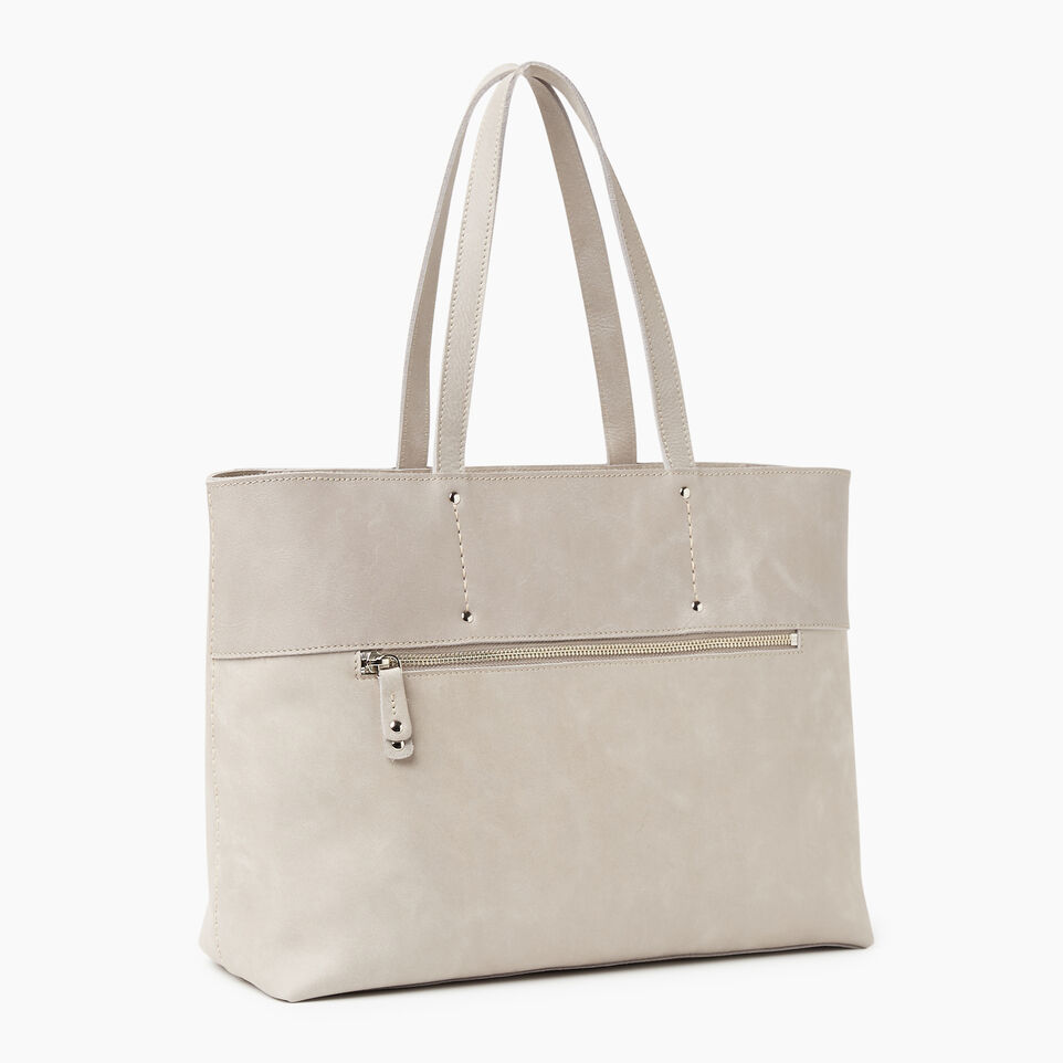 Roots-Leather New Arrivals-Westmount Tote Tribe-Sterling Grey-A