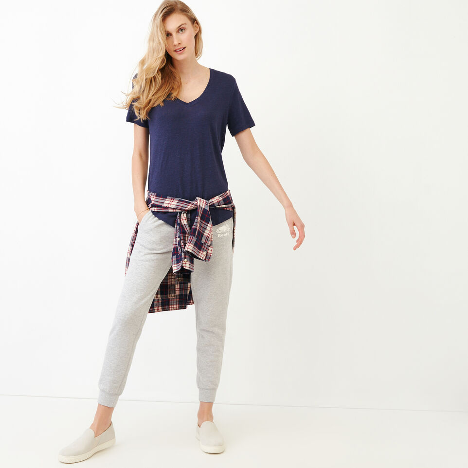 Roots-undefined-Linen V Neck Top-undefined-B