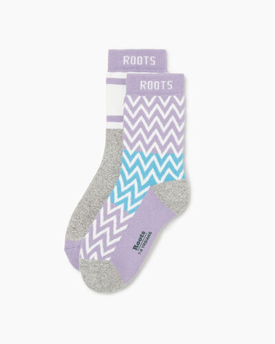 Roots-Sale Girls-Kids Glow Pop Sock 2 Pack-Lupine Mix-A